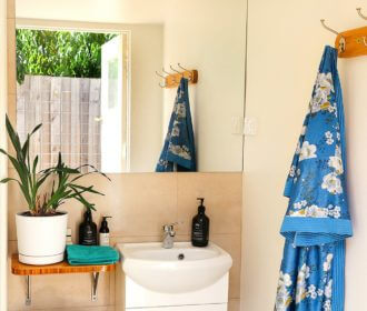Bathroom at Yurt Hideaway, Mornington Peninsula, Tootgarook
